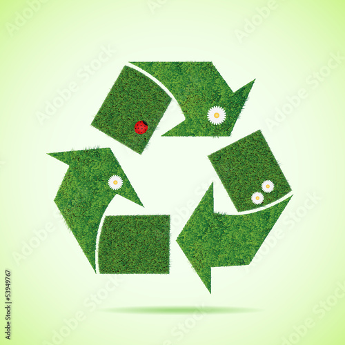 Grass recycle icon