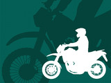 motorcyclist silhouette on the  abstract background - vector