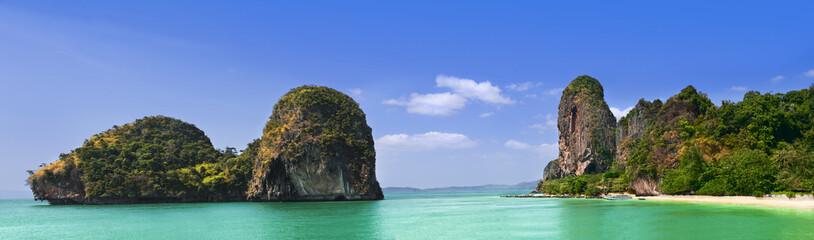 Phra Nang Beach, Thailand, Krabi Province, Panoramic picture © mareciok