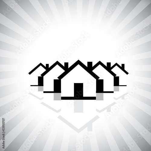 residential real estate or property market icon(symbol) of house