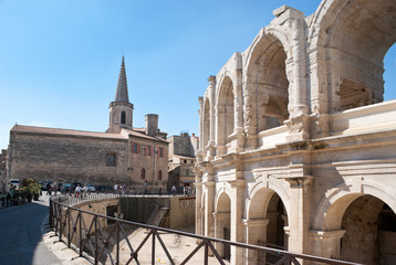 the roman arena and christian church