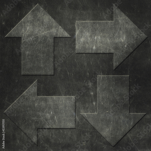 Grunge arrows background, metal texture © lava4images