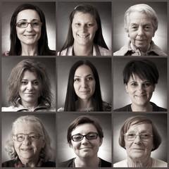 ritratti collage femminile