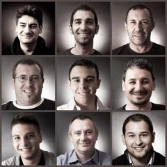 ritratti collage maschili