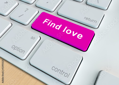 Find love - online dating concept