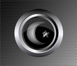 muslim star and crescent on metal