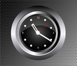 Wall Clock Vector on black