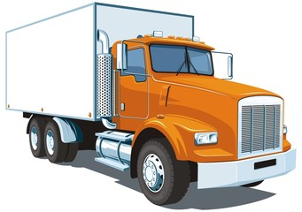 Vector isolated commercial truck