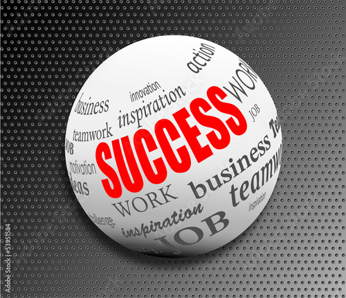 success business abstract motivation ball sphere