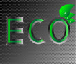 eco ecology logo green leaf vector illustration