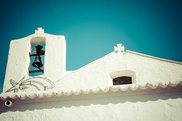 White church in Balearic Islands