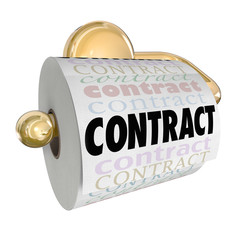 Contract Nullified Void Not Worth Toilet Paper on Roll