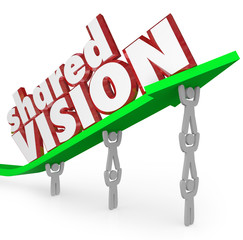 Shared Vision Common Goal Workers Cooperate Collaboration