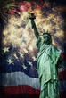 Statue of Liberty &  Fireworks - 53954906