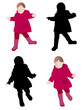 toddler wearing raincoat - vector