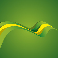 Abstract cover Brazilian ribbon vector