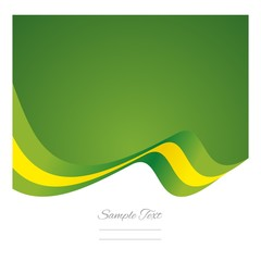 Abstract Brazilian flag ribbon vector