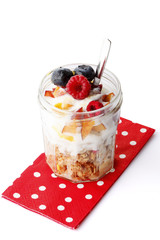 Yogurt with fresh Fruit and Granola