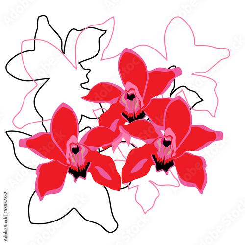 Tuinposter Abstract bloemen Flowers