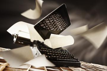 old e new typewriter