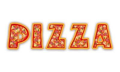 PIZZA - LETTERS LOGO
