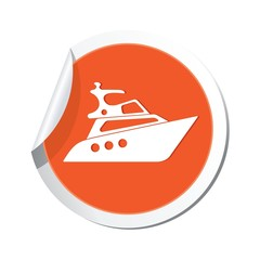 Yacht icon. Vector illustration