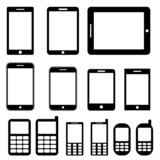 Mobile phones and tablets set