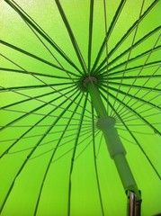 sombrilla verde