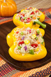 Two Stuffed Yellow Peppers for Thanksgiving