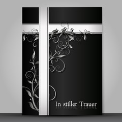 mourning card - Trauerkarte