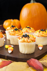 Halloween Cupcakes with Pumpkins