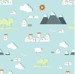 vector kiddy wallpaper pattern