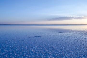 salt lake just before sunrise