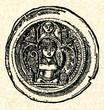 Bracteate coin of Frederick I Barbarossa