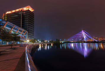 Putrajaya offce buildings at night