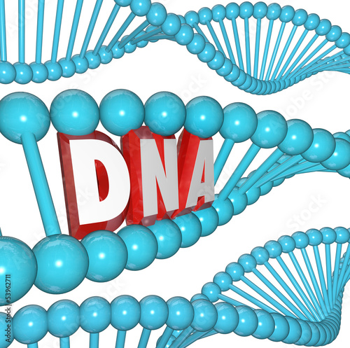 DNA Word Strand Genetics Heredity Medical Research