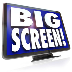 Big Screen Display Monitor Words TV HDTV Television