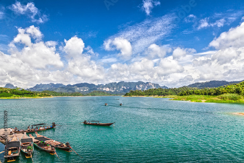 National park Khao Sok. Lake Chiao Lan. Thailand