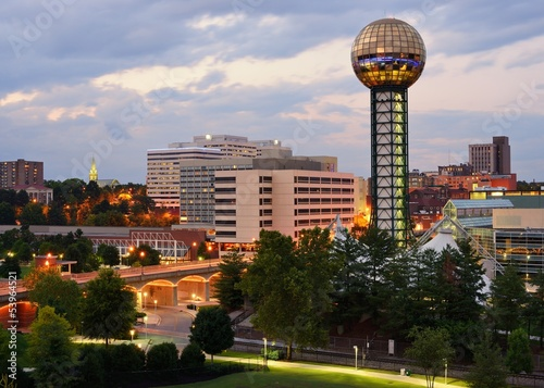 Downtown Knoxville, Tennessee Cityscape