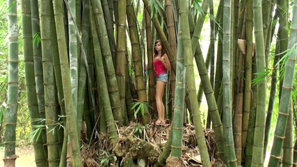 Girl at the Bamboo thickets