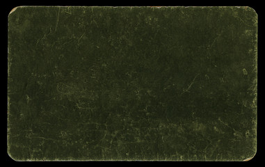 Vintage paper mounted on cardboard, isolated with clipping path