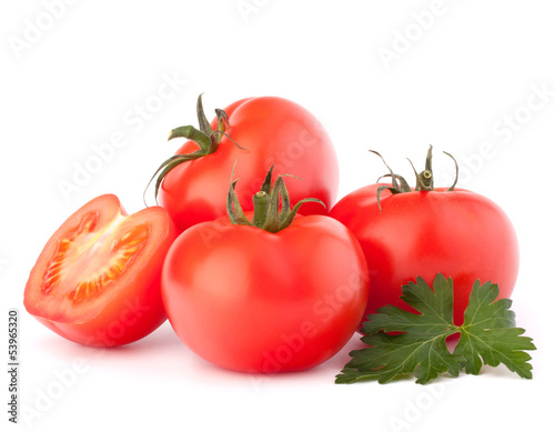 Tomato vegetables and parsley leaves