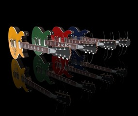 Row Of Electric Guitars