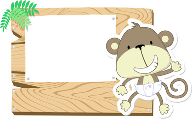 baby monkey sign board