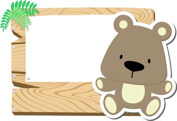 cute teddyy bear signboard