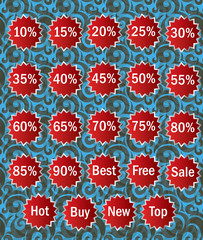 Sale labels