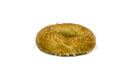 Bagel  for shabbat isolated on white background