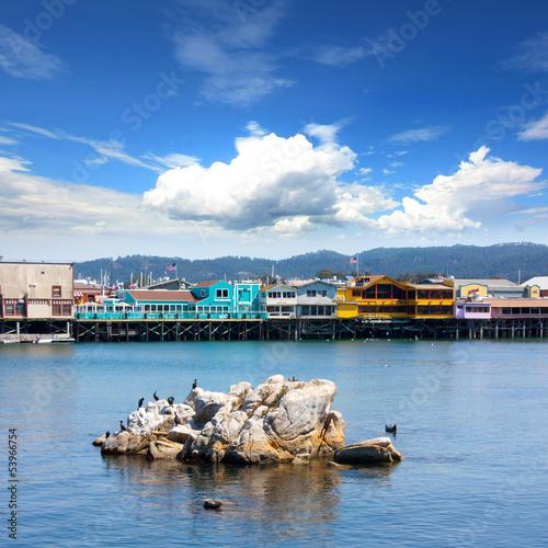 Leinwanddruck Bild USA - Monterey Fisherman's Wharf (California)