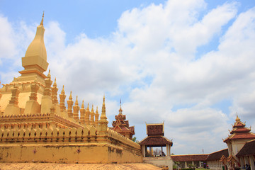 Pha That Luang is very beautiful inside.
