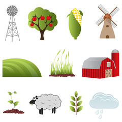 Farm and agriculture icons